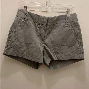 "J. Crew Factory chino grey 4"" shorts"